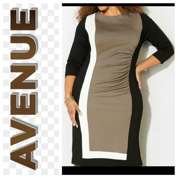 Avenue 3/4 Sleeve Plus Size Dress Sz 22/24 NWT